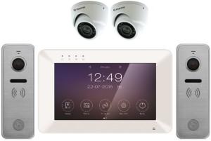 Комплект видеодомофона с панелями вызова и камерами